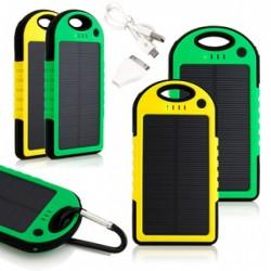 Водоустойчива външна мобилна акумулаторна батерия със Соларен панел Power Bank 10000 mah