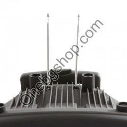 12 инчова тонколона MBA  F-12А с вграден акумулатор, Bluetooth, МП3 плейър, безжични микрофони 2 бр. за караоке