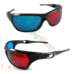 3D oчила за многократна употреба анаглифни - Red Blue 3D Plastic Glasses for 3D Movie Game