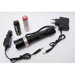 Мощен акумулаторен прожектор със спусък за лов и риболов със зелена светлина LED диод 180000W